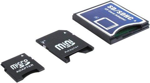 Набор переходников Espada MicroSD / MiniSD / SD на CF