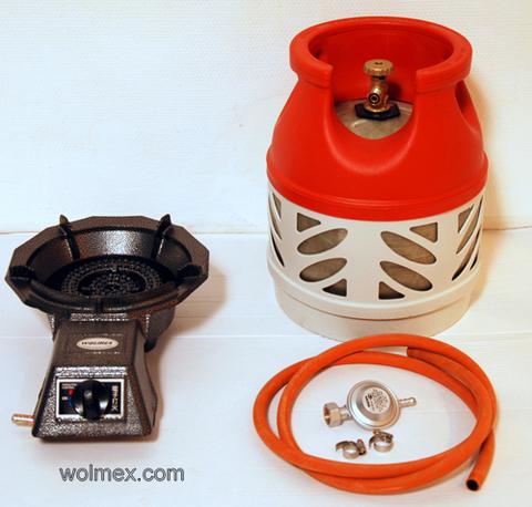 Комплект 30. Горелка газовая Wolmex KGS-4R3 с композитным баллоном и редуктором EN61 - Shell