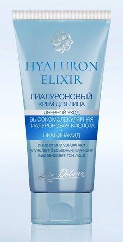 Liv-delano Hyaluron Elixir Гиалуроновый крем для лица дневной уход 50г