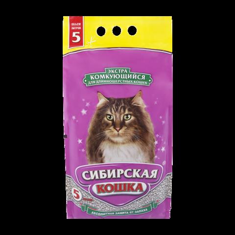 Сибирская кошка Экстра Наполнитель для туалета кошек для длинношерстных кошек комкующийся