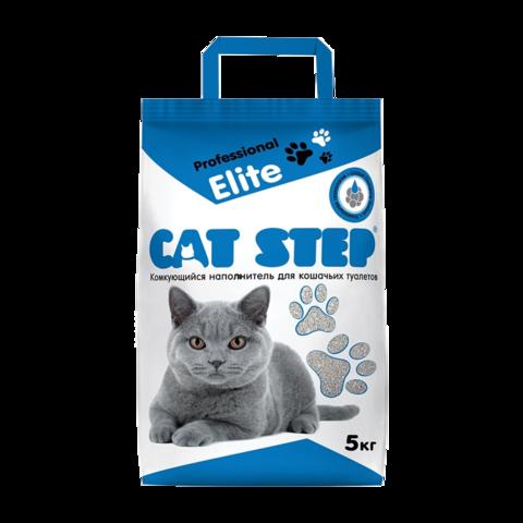 Cat Step Professional Elite Наполнитель для туалета кошек комкующийся