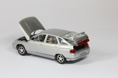 VAZ-2112 Lada with spoiler silver metallic Agat Mossar Tantal 1:43