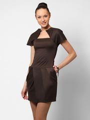 0905-1 сарафан женский, темно-коричневый