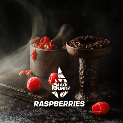 Табак Burn Black Raspberries (Малина) 200г