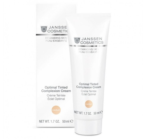 Дневной крем Optimal Tinted Complexion Cream Medium (SPF 10), Demanding Skin, Janssen Cosmetics, 50 мл