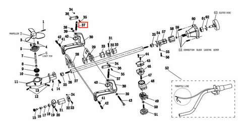 Винт зажима струбцины  , для лодочного мотора T2 SEA-PRO