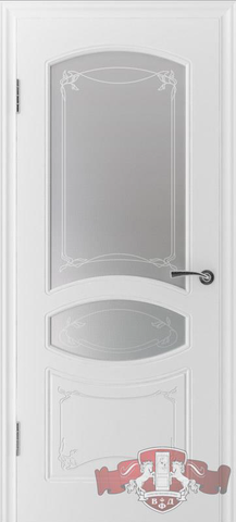 Дверь 13ДР0 (белая эмаль, остекленная шпонированная), фабрика Владимирская фабрика дверей
