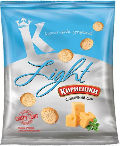 """Сухарики """"Кириешки"""" Light Сливочный сыр 80 г"""