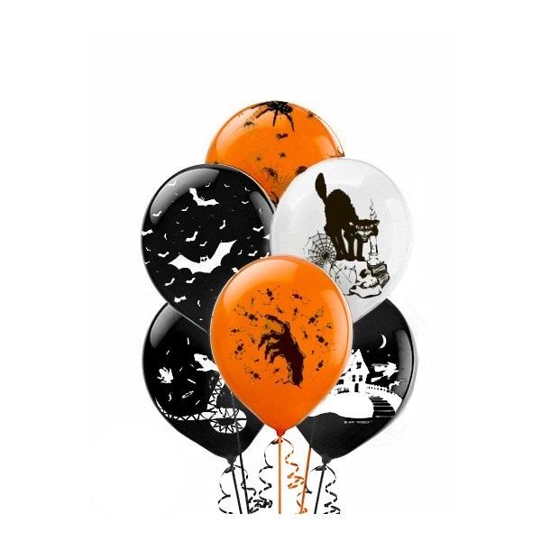"""Воздушные шары на Хэллоуин Облако шариков """"Страшилки"""" страшилки.jpg"""