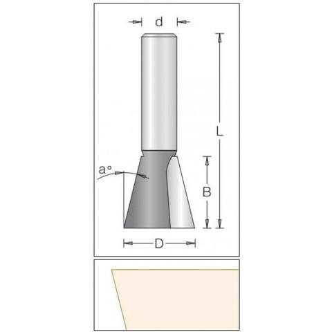 Концевая кромочная фреза конус 25.4x25.4x69x12 1040259