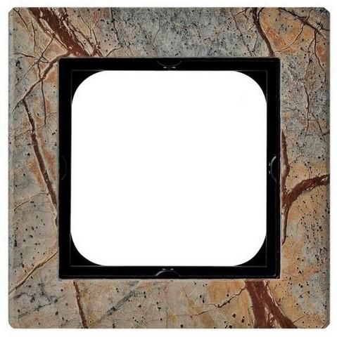 Рамка на 1 пост. Цвет Камень. Ospel. Sonata. R-1RK/36