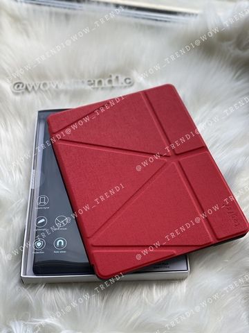 Чехол Origami Case iPad mini 1/2/3/4/5 Leather embossing /red/