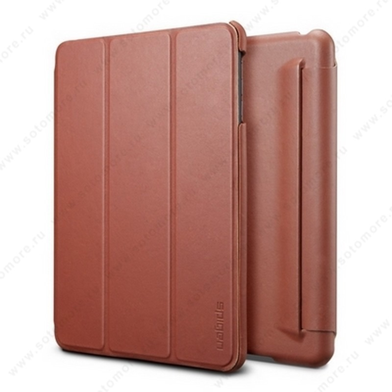 Чехол-книжка SGP для Apple iPad Mini 3/ 2/ 1 - - SGP Leather Case Leinwand Vegetable Brown SGP09652