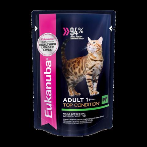 Eukanuba Adult Top Condition Beef Консервы для взрослых кошек с говядиной