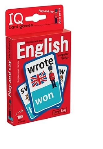 IQ Card games. English. Irregular verbs. Easy Level (100 карт). Степичев. Игра. Неправильные глаголы. Базовый уровень.