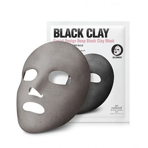 Маска для лица So Natural Design Deep Black Clay Mask