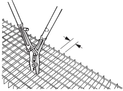 Ножницы для резания стальной сетки и плоских материалов 840 мм