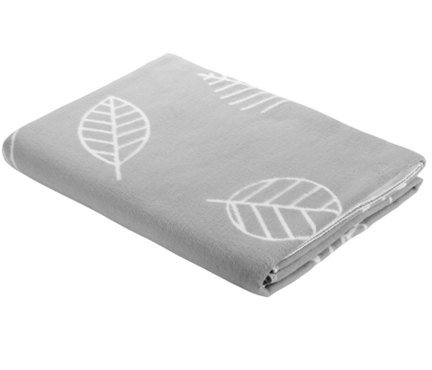 Одеяло байковое Листья серые