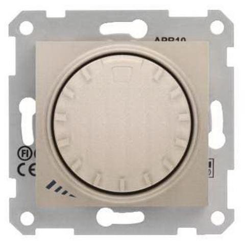 Светорегулятор/Диммер поворотно-нажимной 40-1000 Вт/Ва индуктивный. Цвет титан. Schneider Electric Sedna. SDN2200968