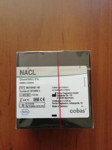 Дилюент NaCl 9% для системы cobas c; NACl 9% Dil, cobas c 701, 119 мл (c-pack), Roche Diagnostics GmbH, Германия