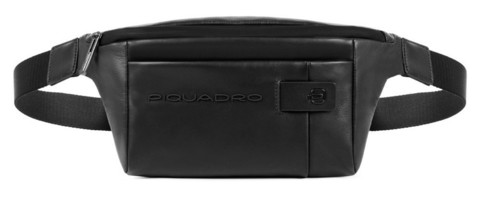 Сумка поясная Piquadro Urban, черная, 32x15x7 см
