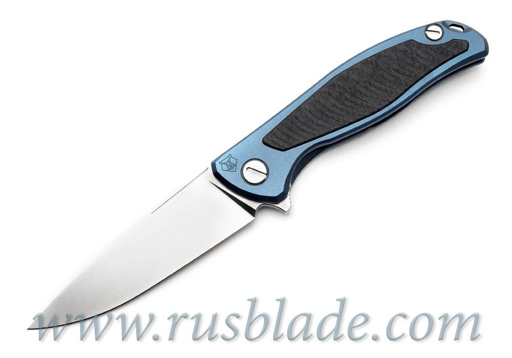 Shirogorov Flipper 95 S30V Blue Anodized