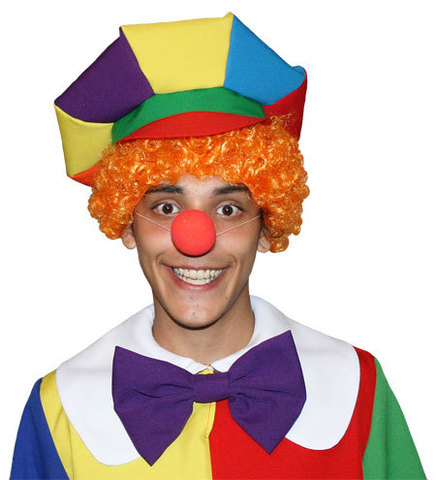 Рыжий парик клоуна
