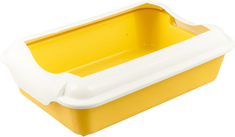 HOMECAT туалет для кошек с бортиком желтый 37х27х115 см