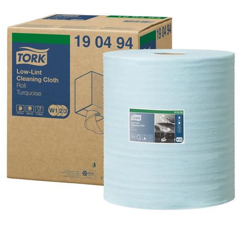 Нетканый протирочный материал Tork 190494 W1 голубой (180 метров в рулоне)