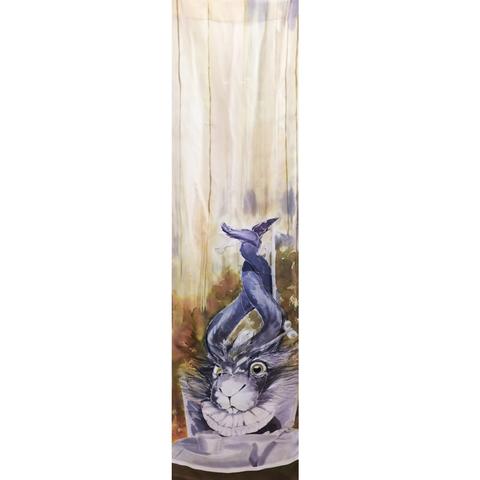 Шелковый шарф батик Кролик или Мартовский заяц с-57