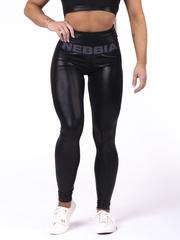 "Женские лосины Nebbia High waist ""Sandra D"" glossy leggings 656 black"