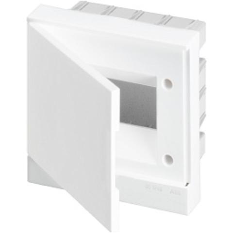 Бокс в нишу Basic E 6-модулей непрозрачная дверь. Цвет Белый. (с клеммами) 190mm*180mm*105mm IP40. ABB. 1SZR004002A1102