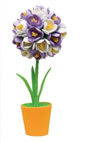 Фиолетово-белый