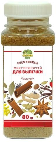 Микс пряностей для выпечки Organic Food, 80г
