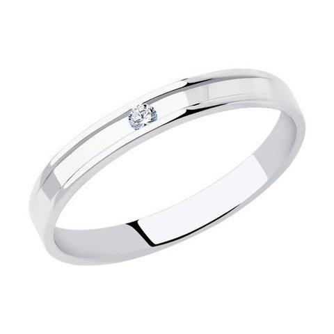 1112298-01 - Кольцо из белого золота с бриллиантом