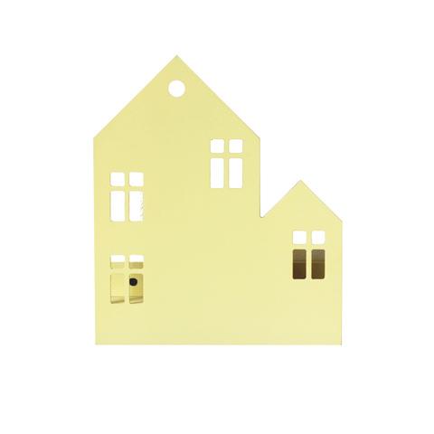 Ночник светильник Домик с окнами желтый
