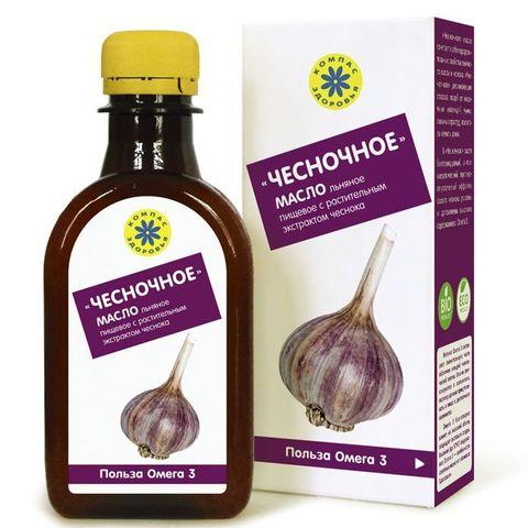 Компас здоровья масло льняное с экстрактами чеснока 200 мл