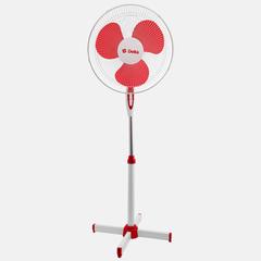 Вентилятор напольный 35 Вт, 43 см DELTA DL-001N белый с красным, min=4 шт
