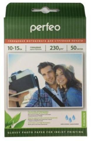 Фотобумага глянец Perfeo 10x15 230 г/м2 50л