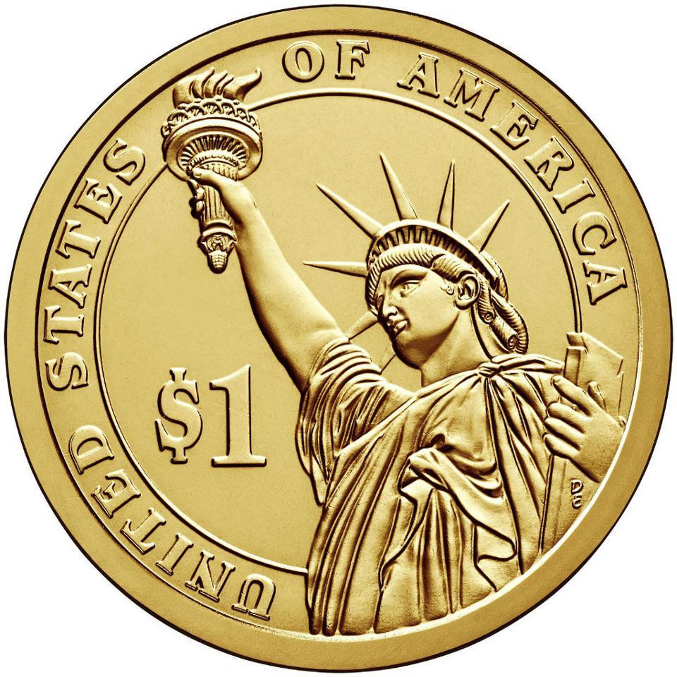 1 доллар 1-й президент США Джордж Вашингтон 2007 год