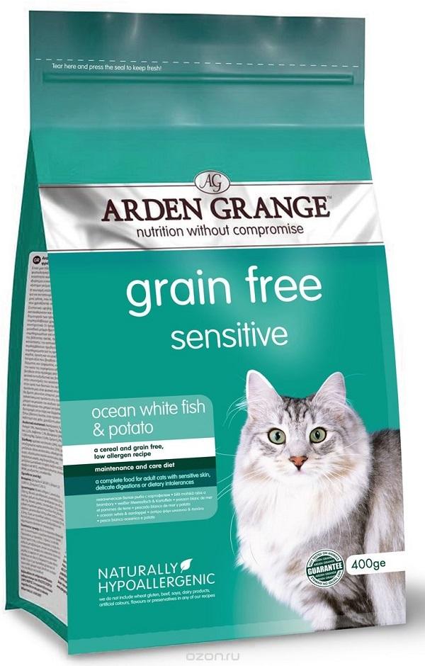 Каталог Сухой корм для кошек, Arden Grange Sensitive, с деликатным желудком и/или чувствительной кожей (беззерновой) AG618236.jpg