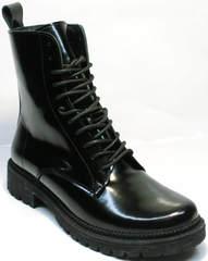 Ботинки мартинсы женские зимние Ari Andano 740 All Black.