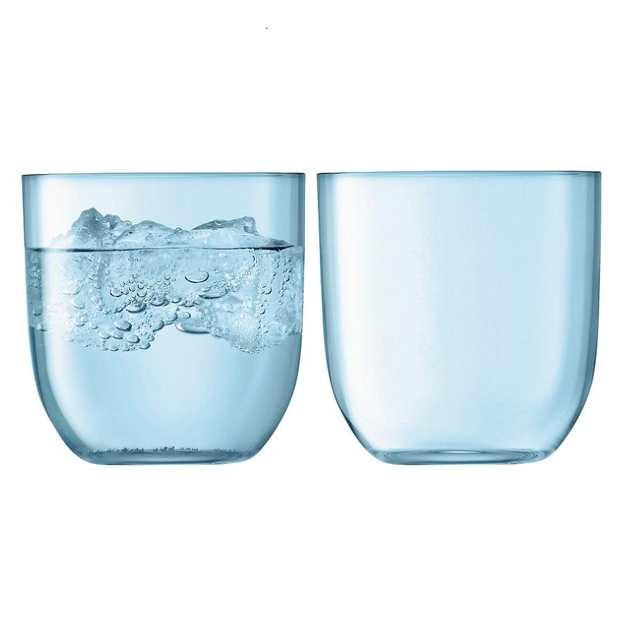 Набор из 2 стаканов Hint, 400 мл, бирюзовый набор из 2 стаканов для воды и виски hint 400 мл зелёный