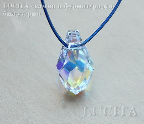 6007 Подвеска Сваровски Small Briolette Crystal AB (9х5 мм)