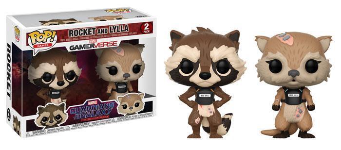 Фигурка Funko POP! Bobble 2-Pack: Marvel: GOTG TT: Rocket & Lylla 23212