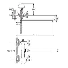 Смеситель для ванной Zegor DFR7-B