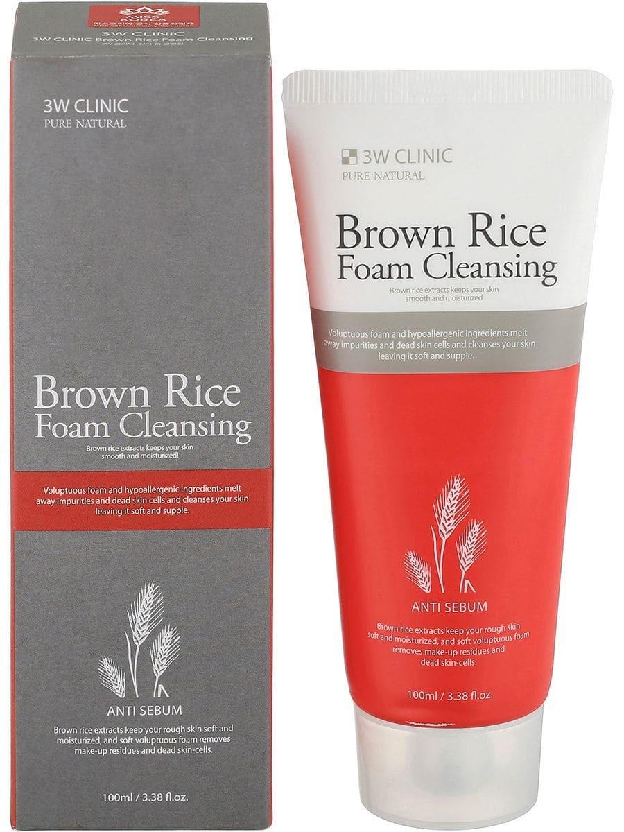 Очищающая пенка для лица - 3W Clinic Brown Rice Foam Cleansing