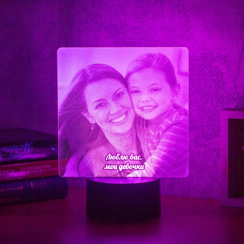 светильник с фотографиями на заказ этом исконно русском