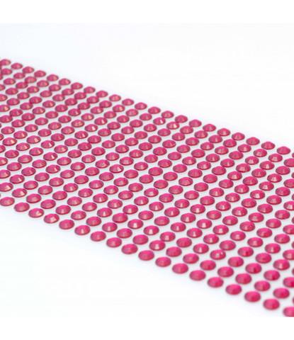 Стразы малиновые 5 мм длинные