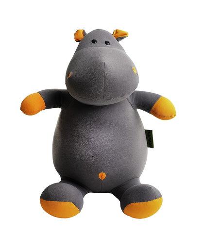 Подушка-игрушка антистресс «Бегемот малыш Няша», оранжевый